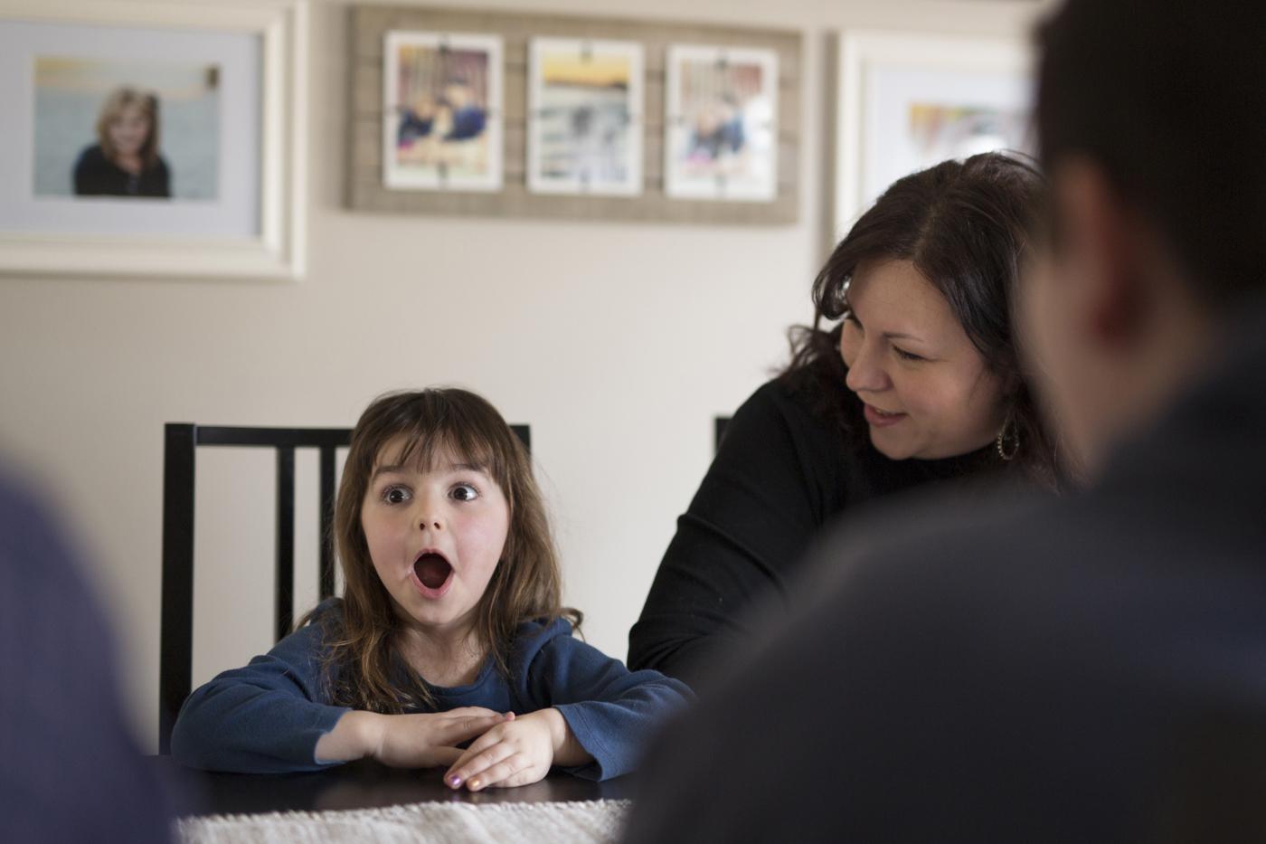 Violet is surprised