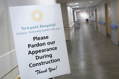 Newport Hospital ED Under Construction