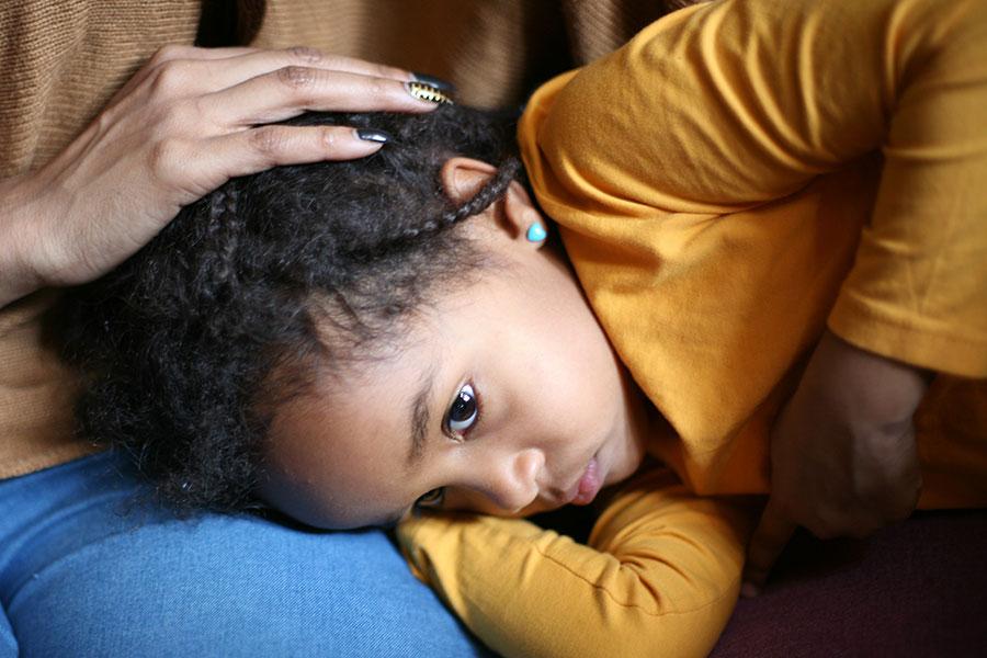 child with bellyache