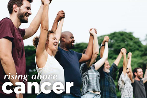 Cover of Rising Above Cancer brochure