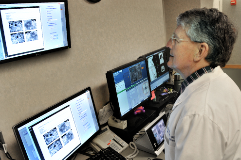 A technician uses medical imaging for sarcomas