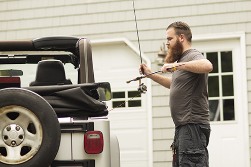 rob loading up his jeep