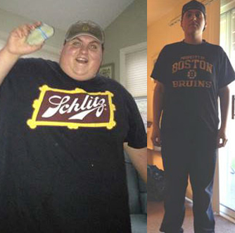 Mike before and after weight loss