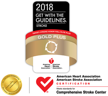 2018 Gold Plus Stroke Award for Rhode Island Hospital