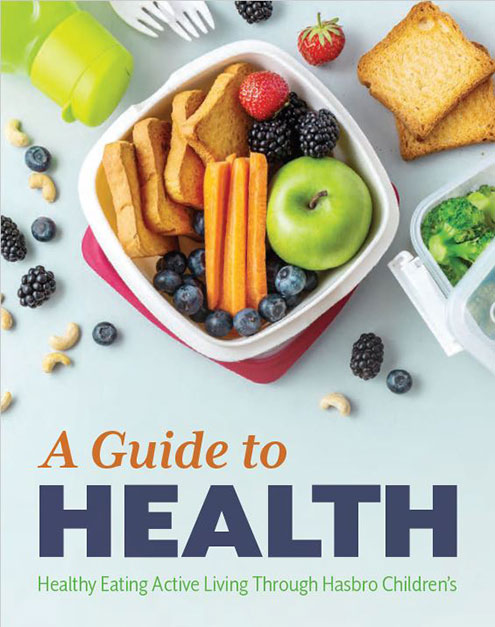 Cover to Healthy Eating, Active Living brochure