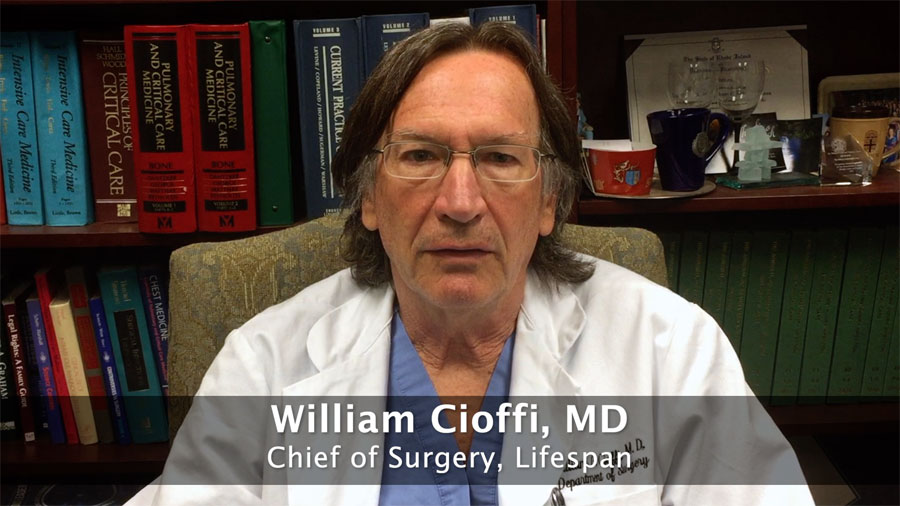 Dr. William Cioffi, Lifespan Chief of Surgery