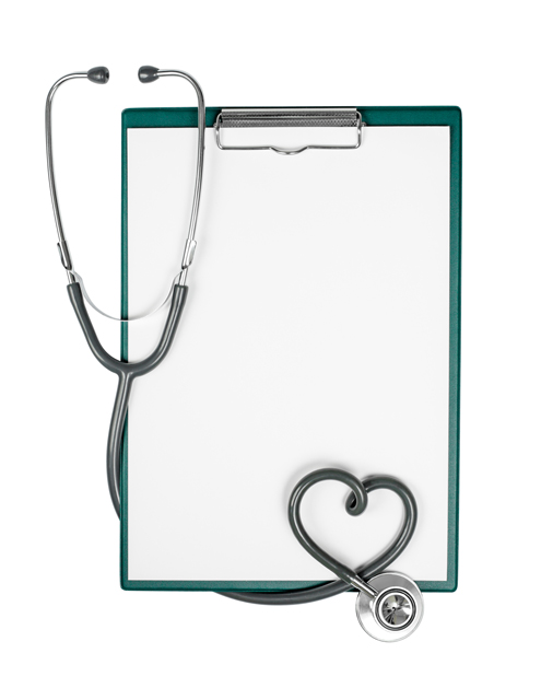A stethoscope and clipboard.  Lifespan Community Health Institute.