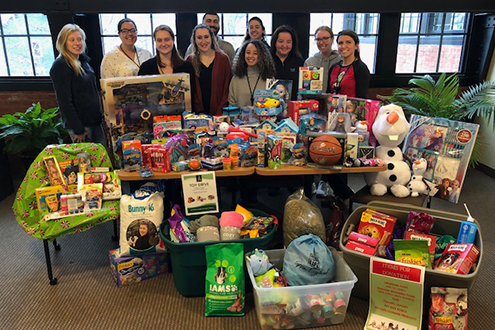 Collecting Donations for the Rhode Island Hospital Toy Drive and the Providence Animal Rescue League 2019