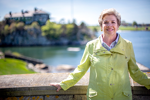 Cynthia O'Malley stands outside in Newport, RI.