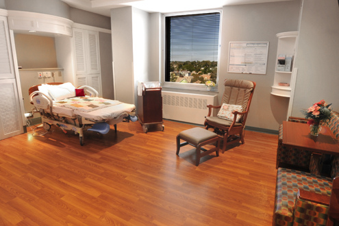 Private suite at Noreen Stonor Drexel Birthing Center