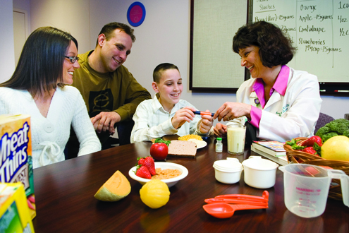Dietitians provide nutritional counseling on an outpatient basis.