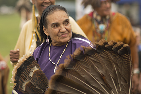 Carole brown at native american ceremony