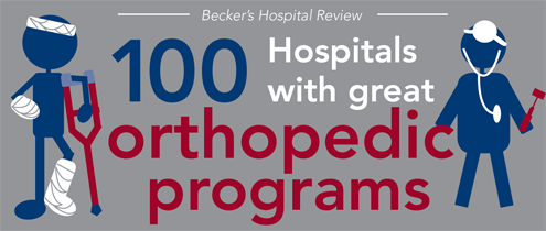 Becker Hospital Review gives the Orthopedics Institute a Top 100 designation.