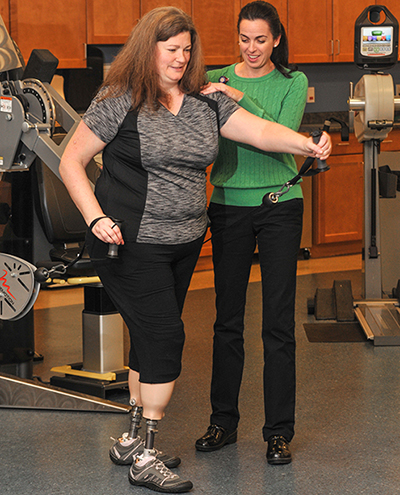 amputee women receiving outpatient rehab at lifespan