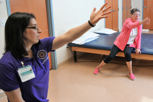 woman receiving outpatient therapy for Parkinson disease at lifespan