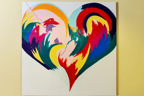 pediatric heart center artwork