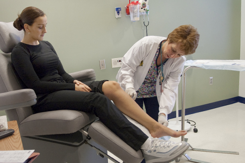 Varicose veins can be treated with a non-surgical laser technique.