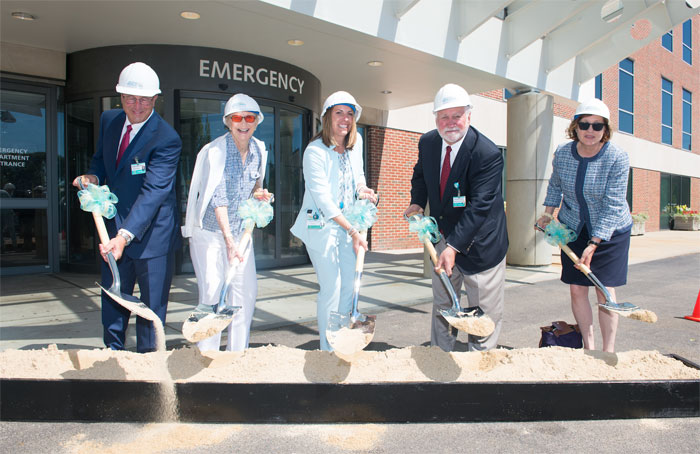 Breaking Ground Pictured From Left Are Peter Capodilupo Chairman Newport Hospital Foundation Board