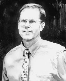 Drawing of John Peterson by Melissa J. Weaver, LMHC, ATR-BC, art therapist