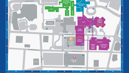 map of Rhode Island Hospital campus