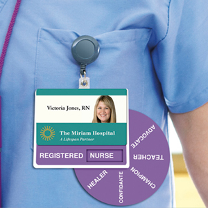 Nursing Advertisement Badge Wheel